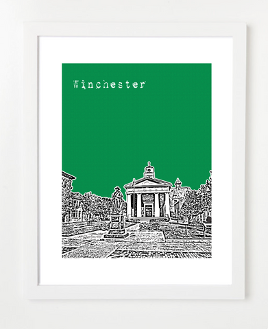 Winchester Virginia Skyline Art Print and Poster | By BirdAve Posters