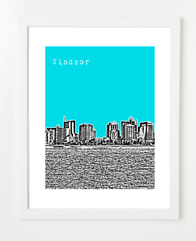 Windsor Ontario Canada Posters and Skyline Art Prints | By BirdAve Posters