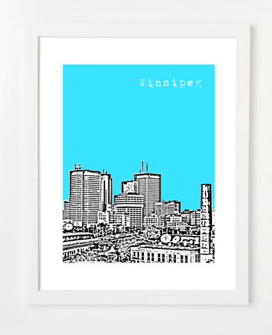 Winnipeg Manitoba Canada Posters and Skyline Art Prints | By BirdAve Posters