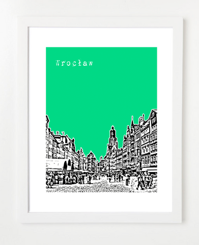 Wroclaw Poland Europe Posters and Skyline Art Prints | By BirdAve