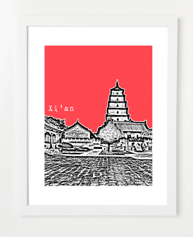 Xi'an China Asia Posters and Skyline Art Prints | By BirdAve