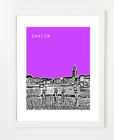 Zwolle Netherlands Europe Posters and Skyline Art Prints | By BirdAve