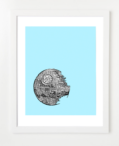 Death Star Poster - Star Wars Art Print