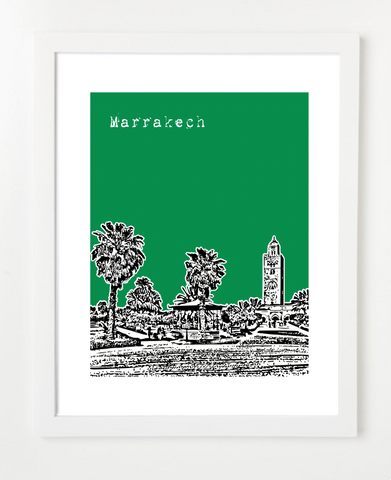 Marrakech Morocco Africa Posters and Skyline Art Prints | By BirdAve