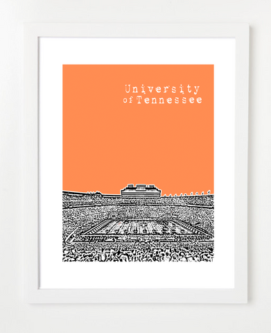 Neyland Stadium Knoxville Tennessee Skyline Art Print and Poster | By BirdAve Posters