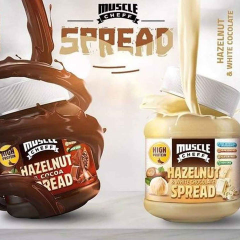 muscle cheff white chocolate hazelnut spread