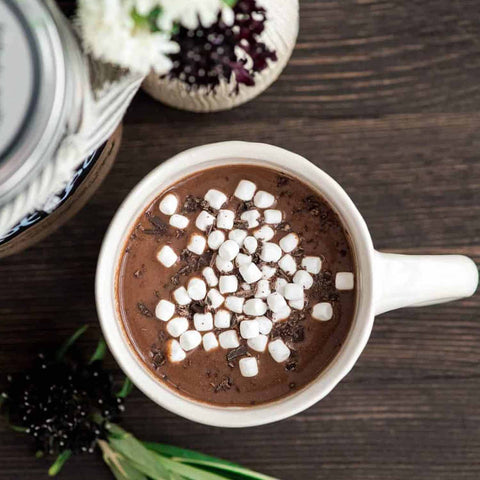 Protein Hot Chocolate with Mini Marshmallows