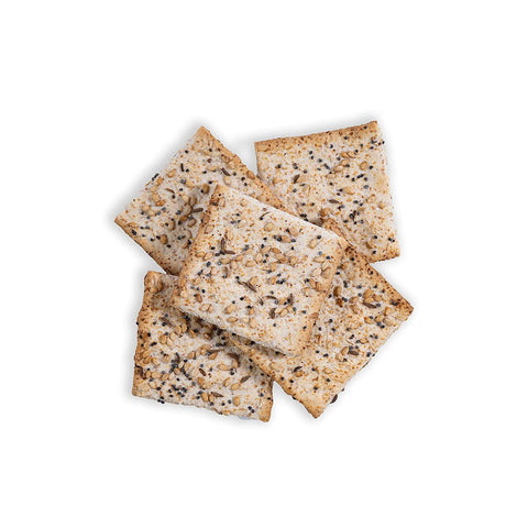 fiber gourmet everything bagel flatbread crackers