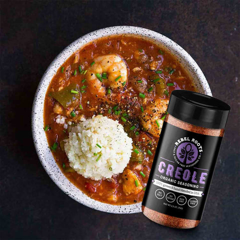 Salt free seasoning and spice creole