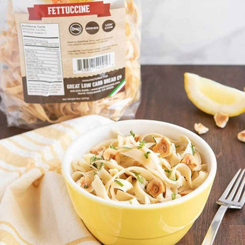 Great low carb pasta, keto pasta, high protein pasta, low carb fettuccine