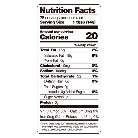 guy gone keto bbq sauce nutritional facts