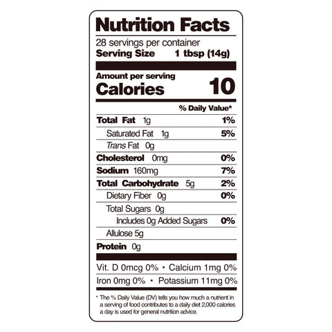 guy gone keto thai chili sauce nutritional facts