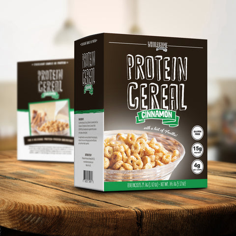wholesome provisions, protein cereal, cinnamon