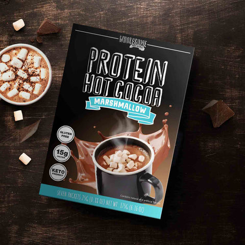 Protein Hot Chocolate with marhsmallows