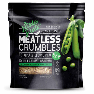 Soy Free Non-GMO Meatless Crumbles - Vegan, Made from 100% USA Peas