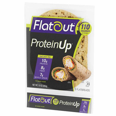 High Protein Flatbread - Flatout ProteinUP Wraps, Low in Carbs, High Fiber