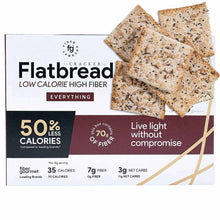 Everything Bagel Low Carb Crackers - High Fiber Flatbread Crackers, Vegetarian, Kosher