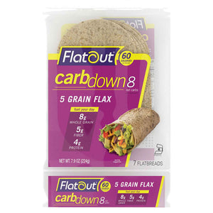 Low Carb Flatbread - Flatout CarbDown Wraps, High Protein & High Fiber