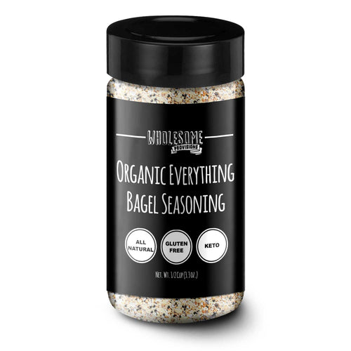 Organic Everything Bagel Seasoning - Non-GMO, Keto, Gluten Free, 3.3 oz.