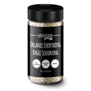Wholesome provisions, organic seasoning, everything bagel seasoning