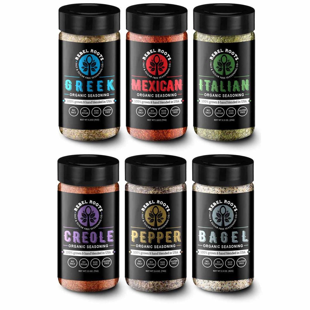 Salt Free, Sugar Free Organic Non-GMO Seasoning Blends