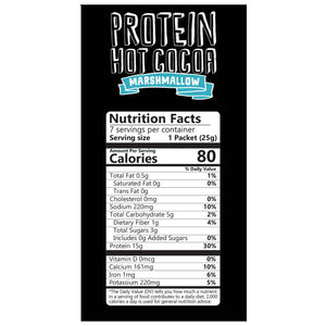 Protein Hot Chocolate with Mini Marshmallows Nutritional Facts