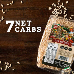 Great low carb pasta, keto pasta, high protein pasta, rice