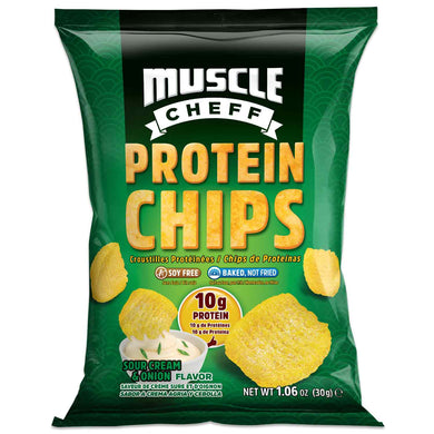 Baked Pea Protein Chips - Sour Cream & Onion, Soy Free, High Protein & Fiber