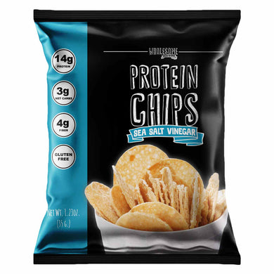 Protein Chips - Sea Salt Vinegar, High Protein & Fiber, Low Carb