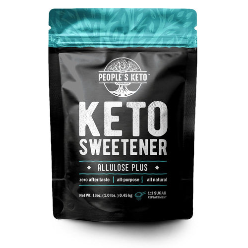 Keto Sweetener - 1:1 Sugar Substitute, Allulose, Monk Fruit, & Stevia Blend, Zero Aftertaste, 1 lb.
