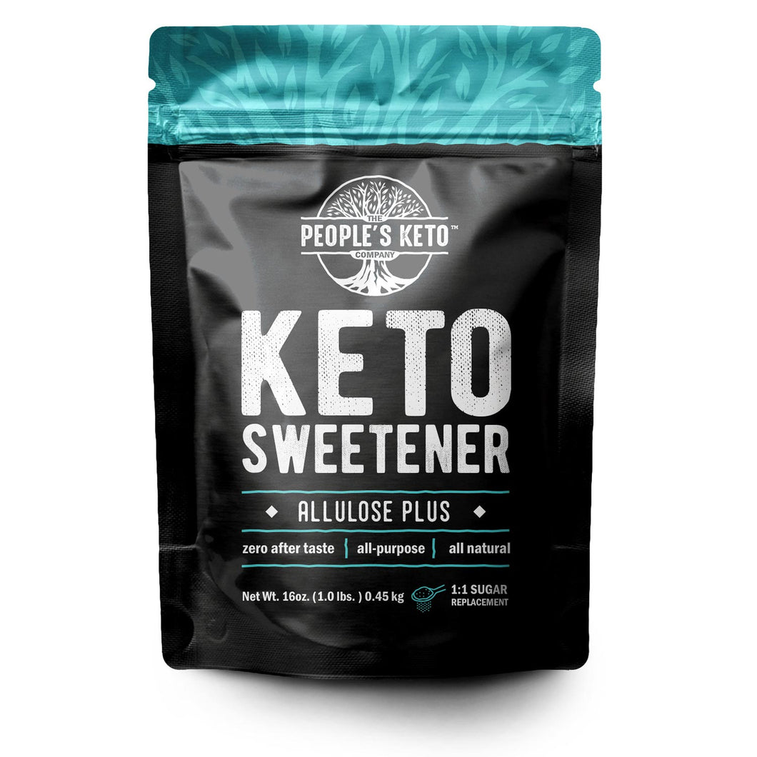 Keto Sweetener - Allulose Plus, 1:1 Sugar Substitute, Zero Aftertaste, 1 lb.