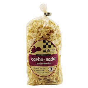 Basil Fettuccine Lower in Carb Pasta - Carba-Nada, High in Protein, High Fiber
