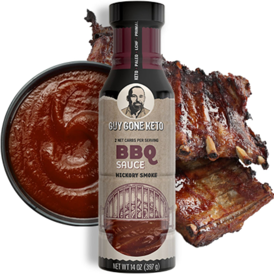 Keto BBQ Sauce - 2g Net Carb, Vegan, Made with MCT Oil, Gluten Free, Hickory Smoke