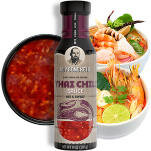 Keto Thai Chili Sauce - 0g Net Carb, Vegan, Made with MCT Oil, Gluten Free, Hot & Sweet