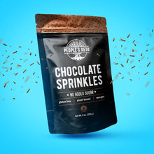 Chocolate Keto Sprinkles, Dye Free, Non-GMO, Plant-Based, No Artificial Coloring, 6 oz.