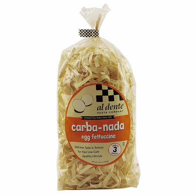 Egg Fettuccine Lower in Carb Pasta - Carba-Nada, High in Protein, High Fiber