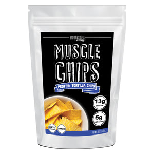 Wholesome provisions, muscle chips, low carb tortilla chips, high protein chips