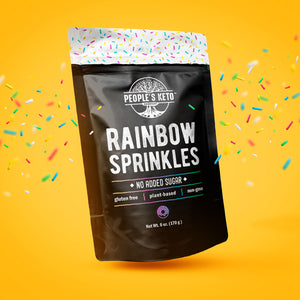 Rainbow Keto Sprinkles, Dye Free, Non-GMO, Plant-Based, No Artificial Coloring, 6 oz.