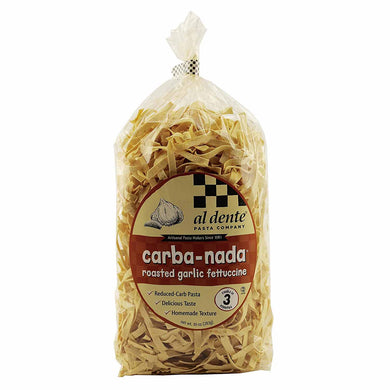 Roasted Garlic Fettuccine Lower in Carb Pasta - Carba-Nada, High in Protein, High Fiber
