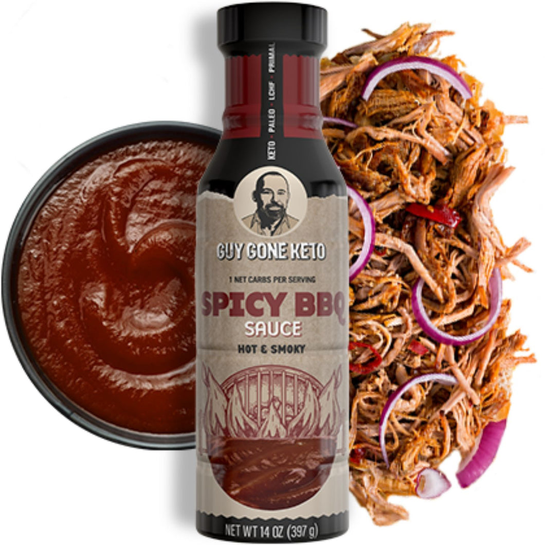 Keto Spicy BBQ Sauce - 1g Net Carb, Vegan, Made with MCT Oil, Gluten Free, Hot & Smoky