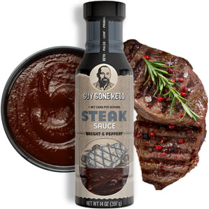 Keto Steak Sauce - 1g Net Carb, Vegan, Made with MTC Oil, Gluten Free, Bright & Peppery