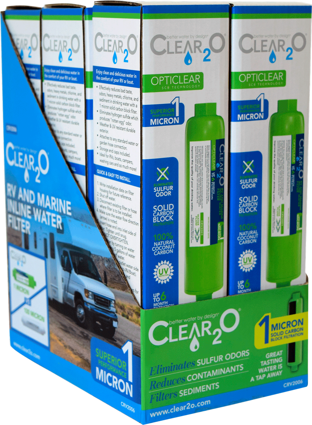 Clear2O RV Inline Water Filtration System Display