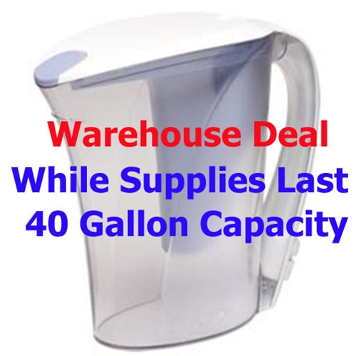 CLEAR2O®  WATER FILTER PITCHER - CWS100A2 40 Gallon Capacity - CLOSEOUT WAREHOUSE DEAL ON PREVIOUS MODEL!!!!