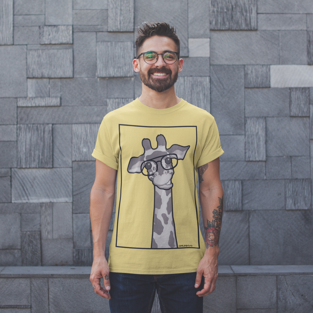 New Animal T-Shirt - A Framed Giraffe