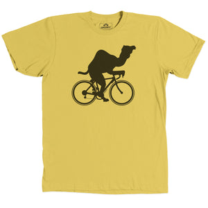 Load image into Gallery viewer, Camel on Bike Shirt Yellow
