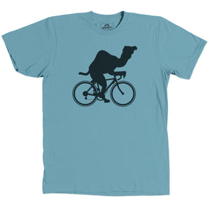 Load image into Gallery viewer, Camel on Bike Shirt Turquoise