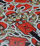 Cheetah Scooter Sticker