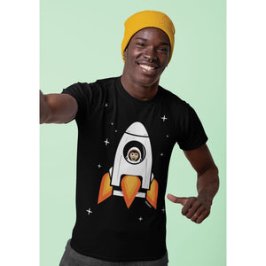 Space Chimp X Chimpanzee in Rocket T-shirt