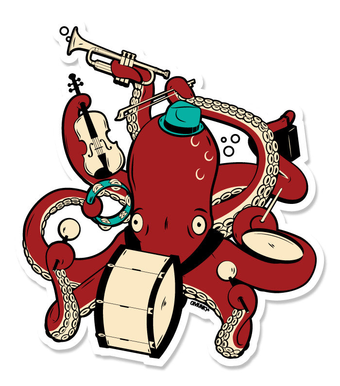 Octoband Sticker