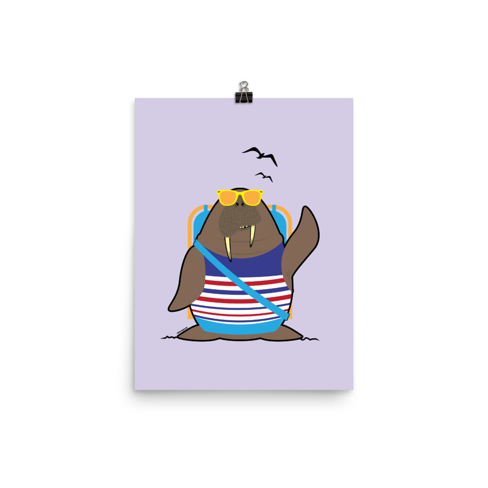 Load image into Gallery viewer, Walrus at the Beach Poster